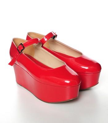 Mary Jane Red Platform - ChicYamada