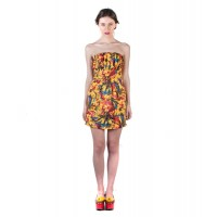 Puff Dress Yellow Floral