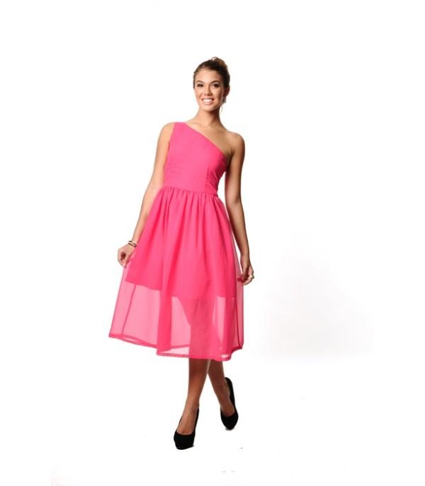 Pop Toga Dress - pink